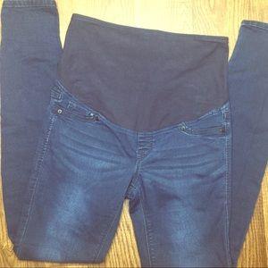 H&M Mama Super Skinny Dark Maternity Jeans Denim 6